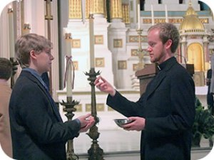 Jesuit Danny Gustafson, 24, recently completed first vows at the Jesuit novitiate in Syracuse, N.Y.