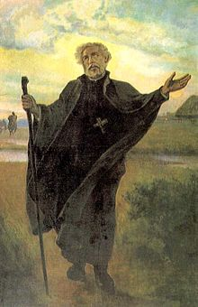 A painting of St. Andrew, the Apostle of Lithuania.