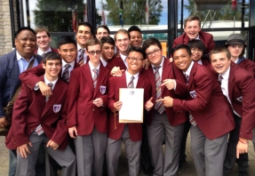 The Prep Vox pictured with one of their awards.