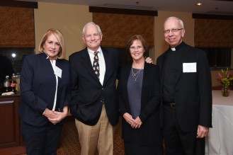 GALA co-chair Jackie Egan, Bill and Gretchen Sterling and Fr. Dennis Yesalonia, SJ