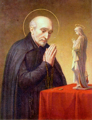 St. Alphonus Rodriguez, SJ, has a strong devotion to Mary the Blessed Mother.