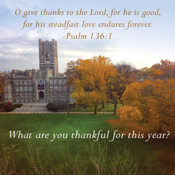 The staffs and Jesuits of our provinces wish you and your loved ones a safe, happy and peace-filled Thanksgiving. Above is a beautiful image courtesy of Fordham University. What are you thankful for?