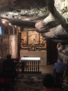 The cave of St. Ignatius was where the saint lived for 11 months to pray and discern what his calling.