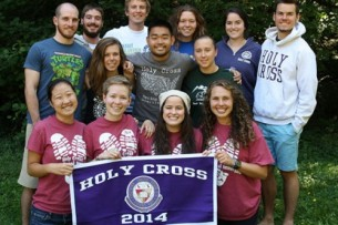 A group of Holy Cross graduates who are serving with the JVC Northwest.