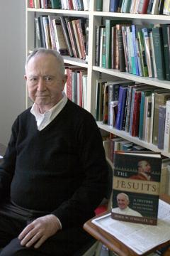 Fr. O'Malley bookshelf