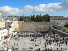 The Western Wall is part of the old temple which was destroyed in the first century.