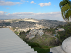 A view of Jerusalem, the city where the pilgrims started their week-long tour.