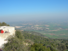 The view from the top of Mount Carmel.